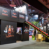 Architecture Ephemere Stand Coca Cola lors de Paris Games Weekmini